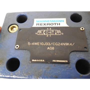 REXROTH 5-4WE10J33/CG24N9K4/A08 HYDRAULIC VALVE RR00009279 Origin NO BOX