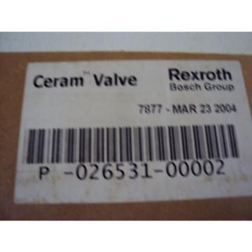 REXROTH CERAM VALVE P-026531-00002
