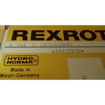 Rexroth Dutch Canada Directional Control Valve 4-WE-10-D21/AG24N _ 4WE10D21AG24N _ 346129/0