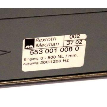 REXROTH Egypt Germany 553 001 008 0 AIR VOLUME SENSOR 0-500 NL / MIN 200-1200 HZ, 5530010080
