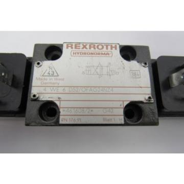 REXROTH 4 WE 6 D52/OFAG24NZ4 24V DC 26W VALVE