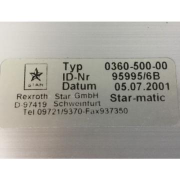 REXROTH Star Linearmodul /  Typ : 0360-500-00