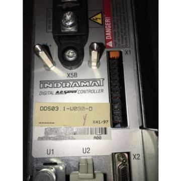 REXROTH Australia France INDRAMAT DDS03.1-W030 AC SERVO CONTROLLER