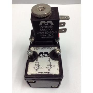Mecman Rexroth Solenoid Valve, 5633010000 4V3 BASIC MOD EL-VALVE 563 MOD 2