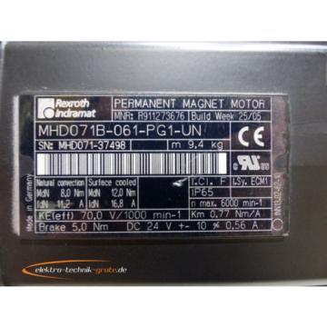 Rexroth USA Russia Indramat MHD071B-061-PG1-UN MNR:R911273676 Permanent Magnet Motor