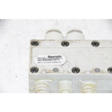 BOSCH REXROTH R434001870 Solenoid Valve, 24VDC, 21W