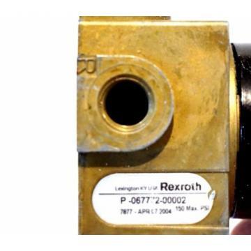 REXROTH P-067772-00002 PNEUMATIC VALVE P06777200002