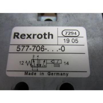 Rexroth Bosch Group 577-706-022-0 Solenoid Operated Valves - Used
