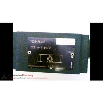 REXROTH Japan Egypt Z2S6-1-64/V CHECK HYDRAULIC VALVE #161410