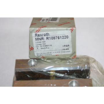 Rexroth Canada Mexico Bosch Star R1087-612-20 Linear Rail Bearing R108761220  * NEW *