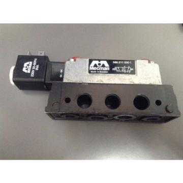 BOSCH Dutch India REXROTH MECMAN 586-211-000-1, Pneumatic solenoid Valve 230V50Hz 5/2 1/4 in