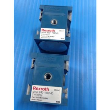 LOT OF 2 Origin REXROTH 8901700140 PPSV PILOT PROGRESSIVE START UP VALVE C25i U4