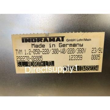Indramat Japan India Rexroth TVM 1.2-050-220/300-W0/220/380V AC Servo PowerSupply