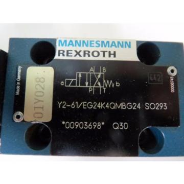 Mannesmann Italy Dutch Rexroth 4WE6 Y2-61/EG24K4QMBG24 SO293 Spool Valve Position Monitoring