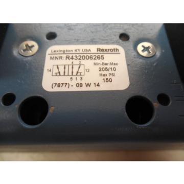 REXROTH CERAM VALVE R432006265 150 MAX PSI 120V COIL NIB