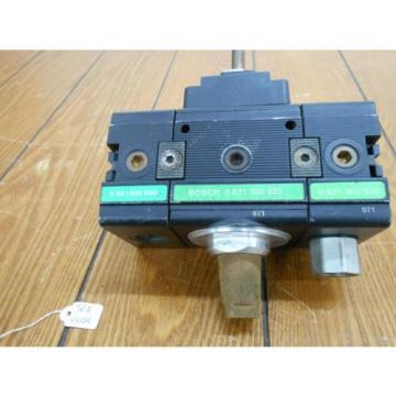Bosch 0821300932 Solenoid Valve 3/2 Way with Two 821300930 Distributor Blocks