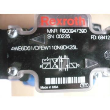 origin Rexroth R978912400 H-4WEH25HD64/OF6EW110N9ETDK25L Valve