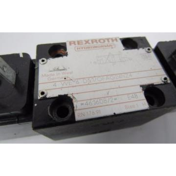 REXROTH 4 WE 6 D51/OFAG24NZ4 E48 24V DC 26W HYDRONORMA VALVE  USED