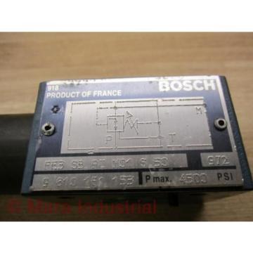 Rexroth Bosch FE3 SB PC M01 S 50 Valve W/O End Plug - origin No Box