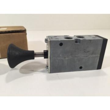 Rexroth R432016622 Manual Air Control Valve 4-Way 5 Ports 2 Position