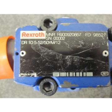 Origin REXROTH PRESSURE REDUCING VALVE # DR10-5-52/50YM/12 # R900920867