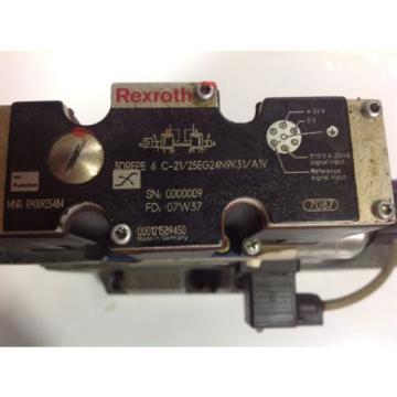 REXROTH SOLENOID PROP VALVE 3DREPE 6 C-21/25EG24N9K31/A1V R900925484