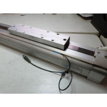 REXROTH RODLESS AIR CYLINDER - 40 bore x 370 - LINEAR ACTUATOR w/REED + FLOW sw