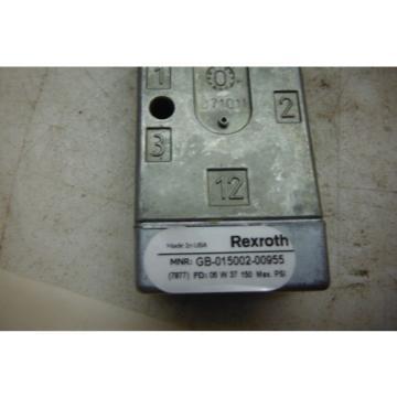 REXROTH GB-015002-00955   MINIMASTER  VALVE  Origin