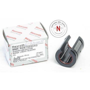 REXROTH R067322040 LINEAR ROD BEARING BALL BUSHING, 20mm ID