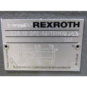 Rexroth Pressure Reducing Valve ZDR 10 DP2-53/75YMV/12