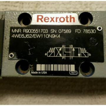 Bosch Rexroth 4WE6J60/EW110N9K4 Directional Spool Valve R900551703