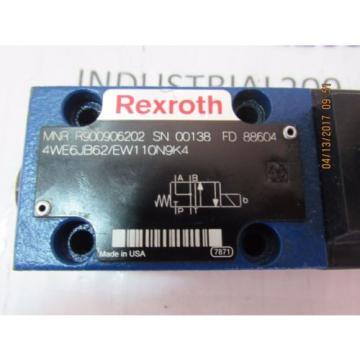 REXROTH 4WE6JB62/EW110N9K4 HYDRAULIC VALVE Origin