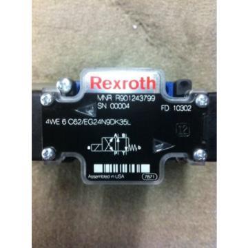 REXROTH 4WE6C62/EG24N9DK35L DIRECTIONAL CONTROL VALVE Origin R901243799