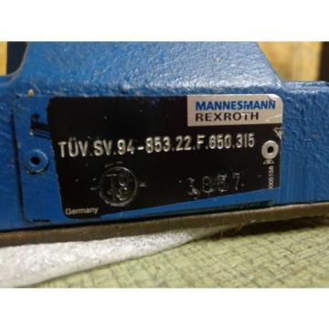 Mannesmann Rexroth DB 30-2-52/315B R08 DB30 Hydraulic Valve