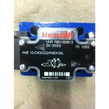 REXROTH 4WE10C40/CG24N9DK35L DIRECTIONAL CONTROL VALVE Origin R901263813