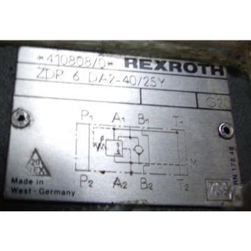 REXROTH ZDR 6DA2-40/25Y Hydraulic Valve