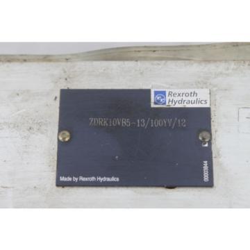 BOSCH REXROTH ZDRK10VB5-13/100YV/12 HYDRAULIC VALVE