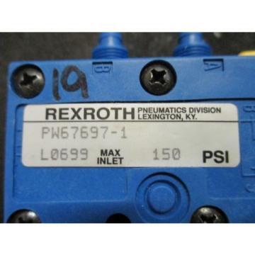 origin Bosch Rexroth Pneumatic Valve - PW67697-1