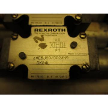 Rexroth 4WE6J60/DG24N9DK24L Hydraulic Directional Valve 24VDC Hydronorma