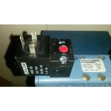 Origin REXROTH R432006471 Air Control Valve, Base Mounted, 4-Way, 2 Solenoids