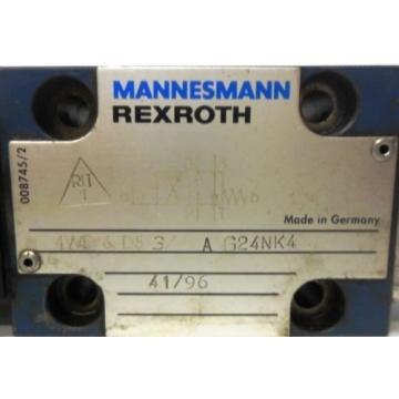REXROTH MANNESMANN HYDRAULIC VALVE 4WE6D53/AG24NK4