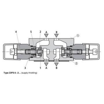 Bosch Rexroth AG 481624/5 M28 Z2FS 6-2-42/2QV Hydraulic Double Twin Check Valve