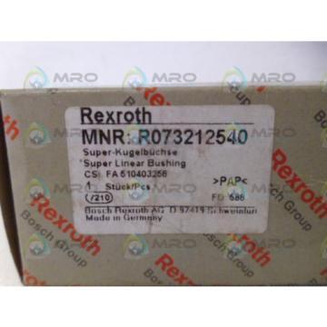 REXROTH R073212540 LINEAR BUSHING Origin IN BOX