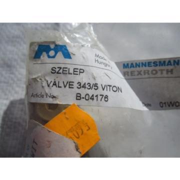 REXROTH 343/5 VITON VALVE B-04176 – NOS