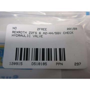 Origin REXROTH Z2FS 6 A2-44/2QV HYDRAULIC CHECK VALVE D518185