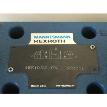 MANNESMANN REXROTH HYDRAULIC DIRECTIONAL VALVE 4WE10J32/CW110N9Z55L RR00009279