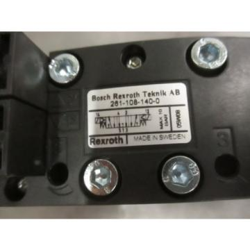 Origin REXROTH 261-108-140-0 PNEUMATIC VALVE  Origin NO BOX Rexroth 262 108 140 NICE