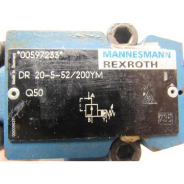 Mannesmann Rexroth DR 20-5-52/200YM Hydraulic Pressure Reducing Valve 200 Bar