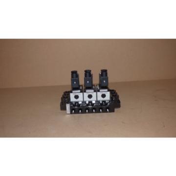 origin Rexroth Pneumatic Directional Control Solenoid Valves, Bank Of 3