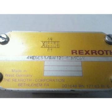 REXROTH VALVE 4WE6E51/AW120-60N9DAV TESTED 4WE6E51 AW120-60N9DAV